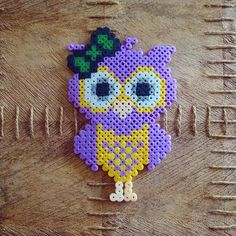 Owl hama perler beads by tamatek