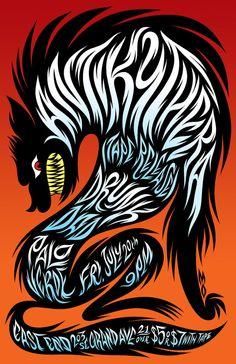 Les presento el magnífico trabajo de Martin Ontiveros, ilustrador residente en Portland Oregon dedicado enteramente a realizar gig posters, juguetes customizados e ilustraciones personales.