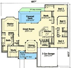Plan W3079D: Traditional, Hill Country, Corner Lot, Photo Gallery House Plans & Home Designs