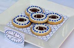 Football Sugar Cookies