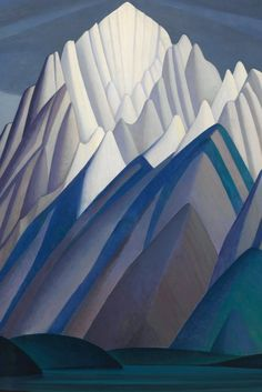 Lawren Harris Painting, 'Mountain Forms,' Sells For Record-Setting Price At Auction Group Of Seven Art, Group Of Seven Paintings, Country Artists, Canadian Artists, Tom Thomson, Mountain Paintings, Block Prints, Art Techniques, Abstract Landscape