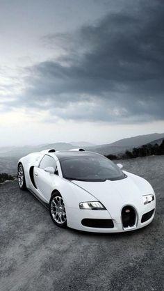 bugatti veyron, white, stop in the Peak, supercar, Cars