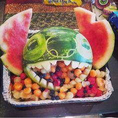 Disney Party Ideas: Lilo and Stitch Party carved watermelon Disney Stitch, Lilo And Stitch Cake, Lilo Y Stitch, Hawaiian Birthday, Luau Birthday, Hawaiian Luau, Birthday Ideas, Watermelon Birthday, Birthday Cake