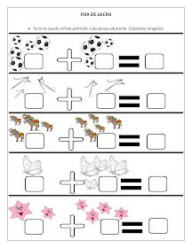 Fise de lucru - gradinita: FISE cu adunari pentru clasa Pregatitoare / Fise de lucru cu adunari Cycle 1, Kids Math Worksheets, Teacher Supplies, Reading Groups, Math For Kids, Toddler Learning, School Lessons, Teaching Materials, Kids Education