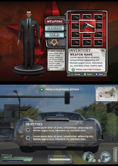 EA - 007 From Russia WIth Love Game UI by Shane Mielke, via Behance
