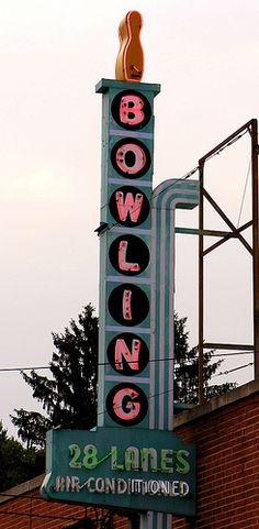The bowling alley on the outskirts of town run by Mary & John the past 15 years.