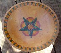 Nice Antique Signed Munisino Dated 1938 Hand Painted Wood Bowl   eBay