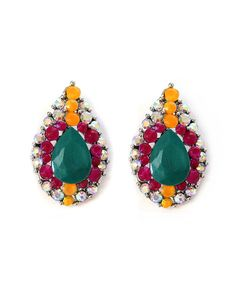 The Raindrops on Brazil Earrings by JewelMint.com, $24.00