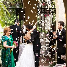 Miami Wedding Photography: Jackie & Don have an oh so awesome Villa Woodbine Wedding in Coconut Grove - Miami Wedding Photographer Chapel Wedding, Wedding Ceremony, Wedding Venues, Miami Wedding, Dream Wedding, Wedding Stuff, Movie Theater Wedding, Coconut Grove, Rose Petals