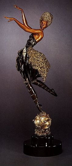 Rose Dancer (Bronze)  by  Erte