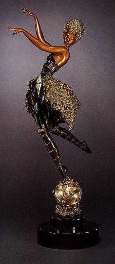 Rose Dancer (Bronze)  by  Erte