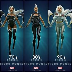 Drawing Marvel The Evolution of Storm Over Three Decades - Comic Book Characters, Marvel Characters, Comic Character, Comic Books Art, Comic Art, Storm Costume, Storm Cosplay, Men Cosplay, Storm Xmen