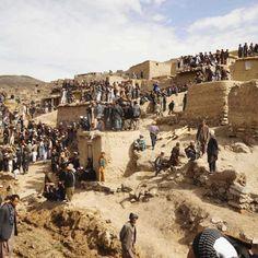 A landslide wipes out a hillside village in Argo, Afghanistan near the Tajikistan border. Reuters 5/5/2014