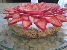 Chef Mommy: Strawberry Meringue Cake - a take on the traditional Mexican Mostachon. My new favorite cake!