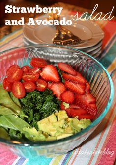 A perfect recipe for Spring and Summer Strawberry and Avocado Salad #WeekdaySupper
