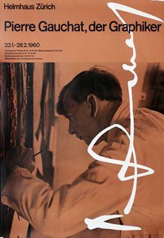 Mannhart, K poster: Pierre Gauchat, der Graphiker Style International, International Typographic Style, Typo Poster, Original Vintage, Beautiful Posters, Editorial Layout, Identity Art, Museum, Graphic Design Typography