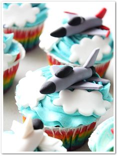 fighter jet cupcakes - Google Search More
