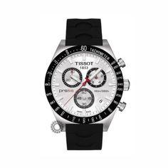 T0444172703100 Ανδρικός χρονογράφος TISSOT μοντέλο PRS 516 με μαύρο  καουτσούκ   ασημί καντράν  1aa31e0f8fc