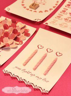 Valentinstagskarte Kerzen