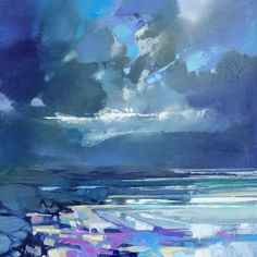 Working with thick brushes and palette knives, artist Scott Naismith carefully reveals the interplay of light and clouds over his native Scotland. The Glasgow-based painter travels the country extensi