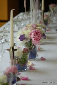 Tischdeko weiß lila