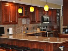 Bronzite Granite Kitchen Countertop Ideas