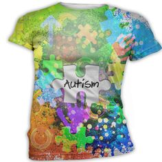 Autism Awareness T-Shirt, Printed Graphic Awareness Top, Custom Autism Shirt, Personalized Autism Tees