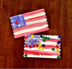 The Happier Homemaker: Fast Easy Flag Craft. What a fun and easy craft!!