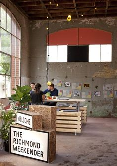 I like the simplicity of the seating, and also love the OSB lightboxes. The Richmond Weekender by Right Angle and Foolscap
