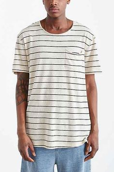 Feathers Cotton Linen Stripe Scoop Neck - Urban Outfitters