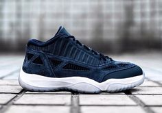 The Air Jordan 11 Low IE Midnight Navy will release Summer 2017 featuring premium suede and nubuck hits with an icy outsole. Details here: