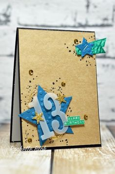 The Stamping Blok: Happy Birthday to my big teenager! - 2016 - 2018 In Colors - Rochelle Blok 13th Birthday Boys, 18th Birthday Cards, Birthday Cards For Boys, Birthday Numbers, Handmade Birthday Cards, Teenager Birthday, Birthday Wishes, Boy Cards, Kids Cards