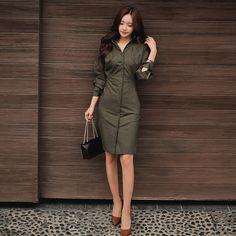 57e101ccb3097c 2107 Spring Midi Women Plus Size Office Party Vintage Bodycon Bandage Army  Green Dress Vestidos Single