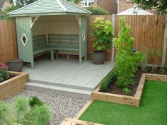 Garden Design Read on to discover some great, modern garden decking ideas that will totally transform your garden. tag: garden decking ideas designs, photos, garden decking ideas for small gardens on a budget, garden decking ideas slopes Small Backyard Landscaping, Backyard Patio, Landscaping Ideas, Paved Backyard Ideas, Landscaping Around Deck, Inexpensive Landscaping, Sloped Backyard, Backyard Sheds, Small Garden On A Budget