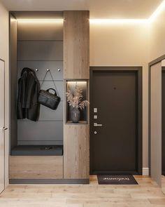 Eingangshalle in Krasnodar Hinter einer Spiegeltür – Decorating Foyer Apartment Entrance, Home Entrance Decor, House Entrance, Apartment Interior, Home Decor, Entrance Hall, Entryway Decor, Small Entrance, Industrial Apartment