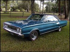 1967 Dodge Coronet R/T - Closer to mine, except the color.  Also raised about 6 inches in the back.