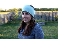 Mint Green Fleece Ear Warmer with Wooden by JamieGregoryHandmade