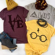 Women's Clothing Deals: Tunics, Dresses, Tanks & Mode Harry Potter, Harry Potter Shirts, Harry Potter Images, Harry Potter Outfits, Custom Design Shirts, Harry Potter Birthday, Cute Shirts, Colorful Shirts, Cute Outfits