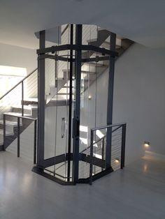 Octagonal Visilift residential elevator