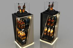 Johnnie Walker Black Label Bar and Display Designs - coca cola - Bar Displays, Pos Display, Wine Display, Display Design, Store Displays, Johnnie Walker Green Label, Craft Beer Shop, Bar Counter Design, Arte Black