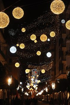 Luci D'Artista- beautiful Christmas light displays,  Salerno, Italy
