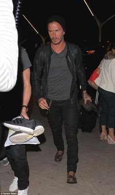 Morocco bound: David Beckham headed to LAX airport on Wednesday to start his travels to Ma...