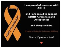October is ADHD awareness month. My daughter and I both live with this disorder.