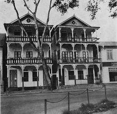 De tweelinghuizen aan de Gravenstraat 1962