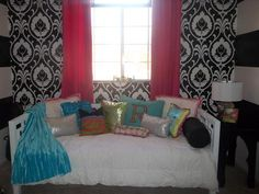 Funky  Tween Girls Bedroom    www.designedtothenines.com love the walls tooooooooooooooooooooooooooooooooooooooooooooooooooooooooooooooooooooooooooooooooooooooooooooooooooooooooooooooooooooooooooooooooooooooooooooooooooooooooooooooooooooooooooooooooooooooooooooooooooooooooooooooooooooooooooooooooooooooo they look like vira bradley