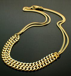 Curb Chain Necklace KIT in Silver Plate or Gold Plate Perfect for Beginners  by UnkamenSupplies, $17.00 - Such a fashionable look right now! #DIY