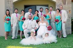 turquoise and pink wedding party. in cabo san lucas, mexico. #weddingphotography