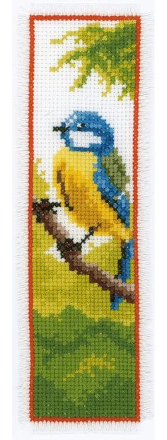cross stitch bookmarks aida 14 count | ... bookmark you are here cross stitch vervaco vervaco bookmarks bluetit