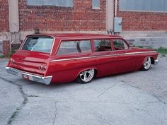 Great Red Chevy Wagon !