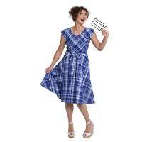 Sue Madras, vintage, new vintage, blue dress, checkered dress, Madras fabric, blauwe jurk, 50s, swing dress, jurk, zomerjurk, summerdress, summer 2015, American dress, lining, pockets
